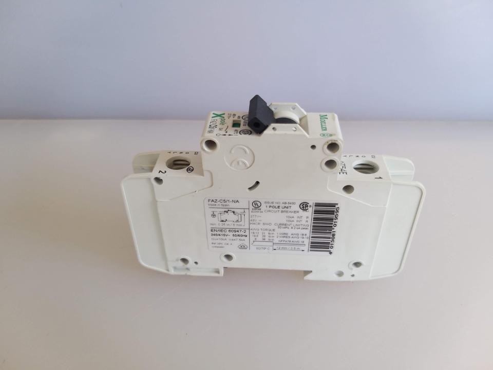CIRCUIT BREAKER FAZ-C5/1NA 5 AMP 1 P MOELLER